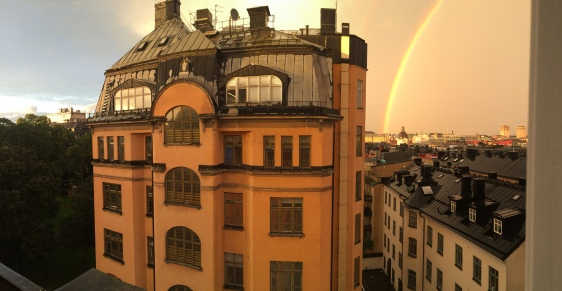 view from our apartment on Tegnerlunden