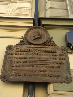 Memorial to the site on Hornsgatan where Swedenborg had his property