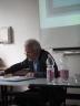 Bernhard Lang, talking about Swedenborg and Charles Dickens @ the University of Erfurt (August 2015)