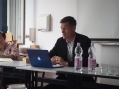 moi, talking about Swedenborg @ the University of Erfurt (August 2015)